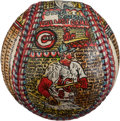 Baseball Collectibles:Balls, 1963 George Sosnak Folk Art Baseball Gifted to Stan Musial.. ...