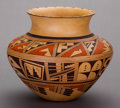 American Indian Art:Pottery, A HOPI POLYCHROME JAR . Emily M. Komalestewa...