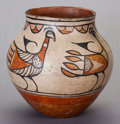 American Indian Art:Pottery, A SANTO DOMINGO POLYCHROME JAR. c. 1945...