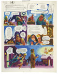"Original Comic Art:Miscellaneous, Harvey Kurtzman - Little Annie Fanny Color Preliminary ""YuletideOne-Upsmanship,"" page 4 Original Art (Playboy, 1963). Harve..."