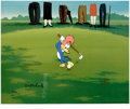 "Animation Art:Limited Edition Cel, ""Golfing Fool"" Limited Edition Hand Painted Cel #5/100 Original Artwith Walter Lantz Signed Payroll Check (Walter Lantz Produ...(Total: 2 Items)"