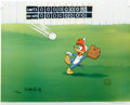 "Animation Art:Limited Edition Cel, ""Fly Ball"" Limited Edition Hand Painted Cel #129/200 Original Artwith Walter Lantz Signed Payroll Check (Walter Lantz Product...(Total: 2 Items)"