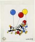"Animation Art:Limited Edition Cel, ""Party Pals"" Limited Edition Serigraph Cel Original Art (WalterLantz Productions, 1997). Woody Woodpecker, Chilly Willy, an..."