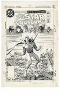 Original Comic Art:Miscellaneous, Jerry Ordway - All-Star Squadron #20 Cover Stat (DC, 1983). Green Lantern wins the war -- but at what price? The All-Star Sq...
