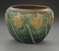 Ceramics & Porcelain, American:Modern  (1900 1949)  , AN AMERICAN ART POTTERY BOWL. Roseville Pottery, designed c.1930.The bowl in the 'Sunflower' pattern depicting yellow flo...