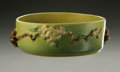 Ceramics & Porcelain, American:Modern  (1900 1949)  , AN AMERICAN ART POTTERY BOWL. Roseville, designed 1948. Of 'AppleBlossom' pattern, the cylindrical body with attached bra...