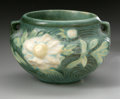 Ceramics & Porcelain, American:Modern  (1900 1949)  , AN AMERICAN ART POTTERY BOWL. Roseville Pottery, designed 1942. Thedouble-handled bowl in the 'Peony' pattern, depicting ...