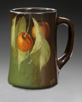 Ceramics & Porcelain, American:Modern  (1900 1949)  , AN AMERICAN POTTERY MUG. Weller, c.1905-1907. 'Louwelsa' pattern,mug decorated by Levi J. Burgess with tapering form and ...