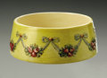 Ceramics & Porcelain, American:Modern  (1900 1949)  , AN AMERICAN POTTERY BOWL. Weller, design c.1919. Of 'Roma' pattern,the shallow bowl with yellow body, rose clusters and r...