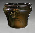 Ceramics & Porcelain, American:Modern  (1900 1949)  , AN AMERICAN POTTERY VASE. Weller, late 19th century. The Louwelsavase in a ground of brown, olive and ochre, decorated wi...