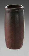 Ceramics & Porcelain, American:Modern  (1900 1949)  , AN AMERICAN ART POTTERY VASE. Van Briggle, c.1910. Decorated in lowrelief of stylized flowers with dead matte violet glaz...