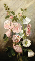 American:Impressionism, EVERETT LLOYD BRYANT (1864-1945). Flowers. Oil on canvas.18in.x 11in.. Signed lower left. ...