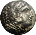 Ancients:Greek, Ancients: Macedonian Kingdom. Alexander III. 336-323 B.C. ARtetradrachm (23 mm). 'Amphipolis', ca. 320-317 B.C. Head ofHerakles righ...