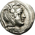Ancients:Greek, Ancients: Attica, Athens. Ca. 113/2 B.C. AR tetradrachm (29 mm,16.73 g). New Style. Helmeted head of Athena right / Owl standingrigh...