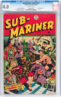 Golden Age (1938-1955):Superhero, Sub-Mariner Comics #13 (Timely, 1944) CGC VG 4.0 Off-white pages....