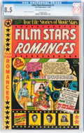 Golden Age (1938-1955):Romance, Film Stars Romances #1 (Star Publications, 1950) CGC VF+ 8.5Off-white to white pages....
