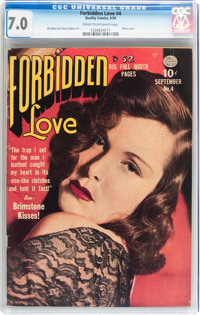Forbidden Love #4 (Quality, 1950) CGC FN/VF 7.0 Cream to off-white pages