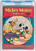 Platinum Age (1897-1937):Miscellaneous, Mickey Mouse Magazine #11 (K. K. Publications/ Western PublishingCo., 1936) CGC FN+ 6.5 Off-white to white pages....