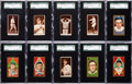 Baseball Cards:Lots, 1911 T205 Gold Border and 1912 T207 Brown Background Collection(139). ...