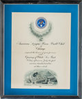 Baseball Collectibles:Others, 1910 Opening of White Sox Park [Comiskey Park] Invitation....