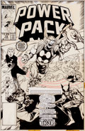 Original Comic Art:Covers, Brent Anderson and Jackson Guice Power Pack #19 CoverOriginal Art (Marvel, 1986)....