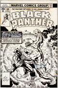 Original Comic Art:Covers, Jack Kirby and Joe Sinnott Black Panther #10 Cover OriginalArt (Marvel, 1978)....