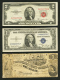 Confederate Notes:1862 Issues, T44 $1 1862 PF-2 Cr. 340.. ... (Total: 3 notes)