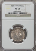 Coins of Hawaii: , 1883 25C Hawaii Quarter AU53 NGC. NGC Census: (22/1065). PCGSPopulation (52/1406). Mintage: 500,000. ...