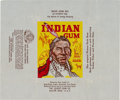 "Non-Sport Cards:Singles (Pre-1950), 1947 Goudey ""Indian Gum"" Wax Wrapper. ..."