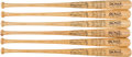 Autographs:Bats, Circa 2010 Stan Musial Signed Bats Lot of 12....