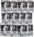 "Autographs:Photos, Circa 2000 Stan Musial Single Signed 11x14"" Photographs Lot of12...."