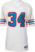 Football Collectibles:Uniforms, Circa 1983 Earl Campbell Game Worn Houston Oilers Jersey. ...