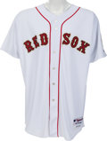 Baseball Collectibles:Uniforms, 2005 Curt Schilling Opening Day Game Issued Boston Red SoxJersey....