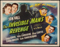 "Movie Posters:Horror, The Invisible Man's Revenge (Universal, 1944). Half Sheet (22"" X 28""). Horror.. ..."