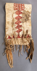 American Indian Art:Pipes, Tools, and Weapons, AN APACHE CHILD'S SADDLE BAG...