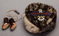 American Indian Art:Beadwork and Quillwork, AN ALASKAN ESKIMO BOY'S BEADED SEALSKIN CAP AND YO-YO. c. 1930...(Total: 2 )