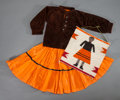 American Indian Art:Beadwork and Quillwork, A NAVAJO GIRL'S OUTFIT WITH MATCHING SAMPLER... (Total: 2 )