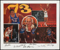 Basketball Collectibles:Others, New York Knicks Team Signed World Champions Lithograph. ...