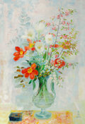Post-War & Contemporary:Contemporary, LE PHO (French, 1907-2001). Fleurs. Oil on canvas. 51 x35-1/2 inches (129.5 x 90.2 cm). Signed in Vietnamese and in Eng...