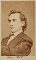 "Photography:CDVs, [Carte de Visite]. Carte de Visite of Edwin Booth. Measures 2.5"" x4"". Very good. . ..."