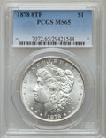 Morgan Dollars, 1878 $1 Eight Tailfeathers, Diagonal In 8, VAM-17, MS65 PCGS....