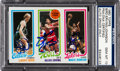 Autographs:Sports Cards, Signed 1980 Topps Bird/Erving/Johnson PSA/DNA Gem MT 10! Signed by All Three! ...
