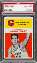 Basketball Cards:Singles (Pre-1970), 1961 Fleer Jerry West #43 PSA NM-MT 8....