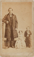 """Photography:CDVs, [Carte de Visite]. Carte de Visite of an Unknown Family. Measures 2.5"""" x 4"""". One horizontal crease. Some dampstaining to ver..."""