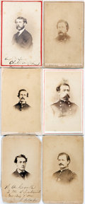 Photography:CDVs, [Carte de Visite]. Six Cartes de Visite of Civil War Soldiers. The signed and identifiable photos are of: Col. Albert Magilt...