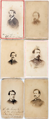 [Carte de Visite]. Six Cartes de Visite of Civil War Soldiers. The signed and identifiable photos are of: Col. Albert