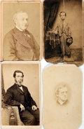 "Photography:CDVs, [Carte de Visite]. Three Cartes de Visite of Unknown Men and One of a Young Boy. The back of one is signed ""M. Ericksen."" Tw..."