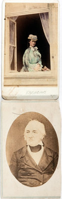 "[Carte de Visite]. Two Cartes de Visite of Cornelius Vanderbilt and Kaiserina Augusta-Victoria. Each measures 2.5""..."
