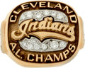 Baseball Collectibles:Others, 1995 Cleveland Indians American League Championship Ladies' Ring....