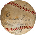 Autographs:Baseballs, 1930's Boston Red Sox Multi Signed Baseball with Jimmie Foxx &Others....